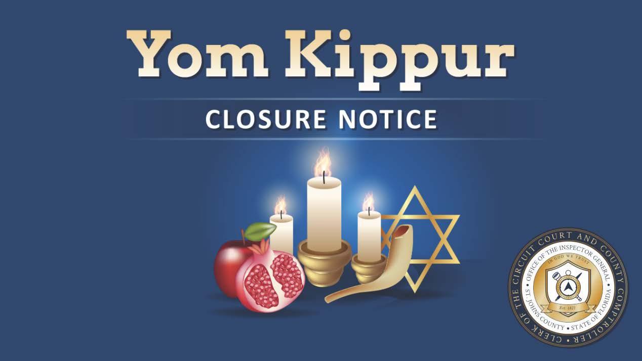 SJC Clerk's Office Closed For Yom Kippur